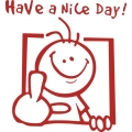 Have a Nice Day! Sticker/Decal! Set of 2 Stickers! $4.99